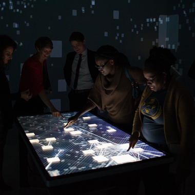 Opening Reception for Kota: Digital Excavations in African Art Pulitzer Arts Foundation, 2015 Photograph by Carly Ann Faye