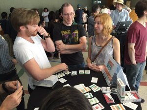 It was great to demo at the IndieCade IndieXchange Game Tasting. Lots of wonderful, supportive folks played!